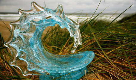 David Wight Glass Art Sculptures at Ocean Blue Galleries