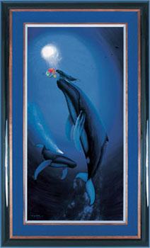 Wyland Ariel's First Breath Giclee - Wyland Gallery Sarasota