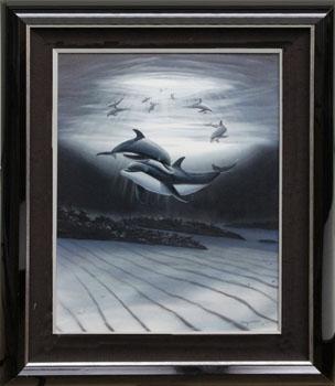 Wyland Dolphin Affection - Wyland Gallery Sarasota