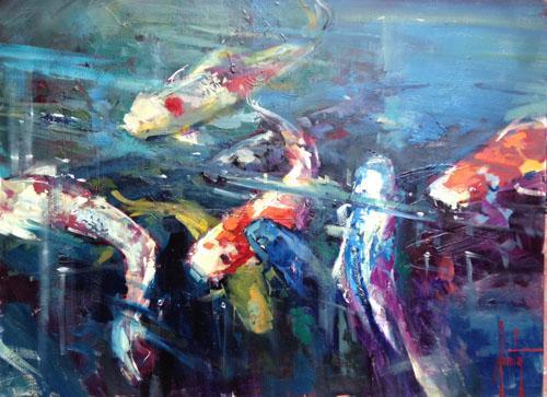 Koi Fish 30 x 40