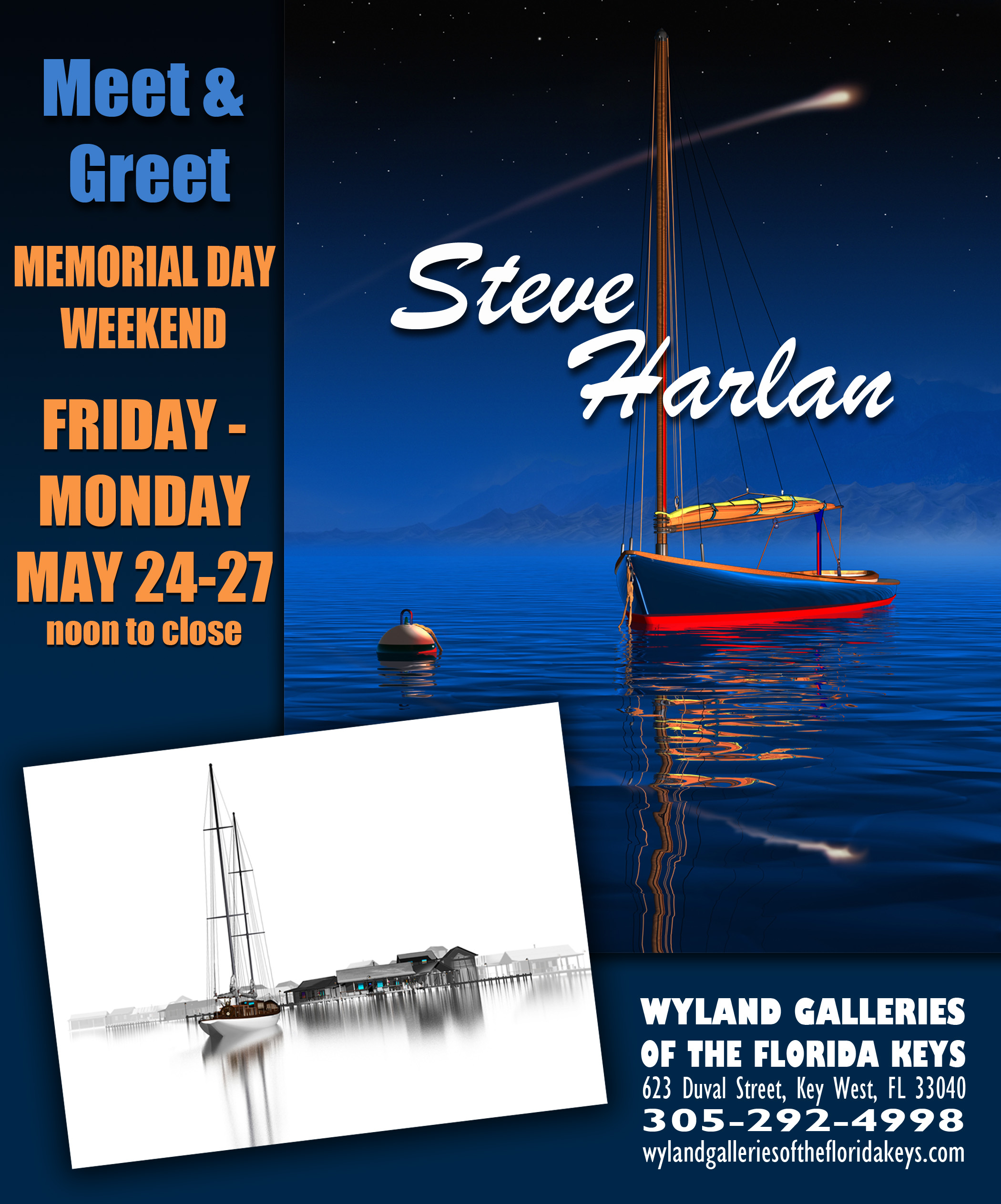 Steve Harlan show at Wyland Gallery Key West