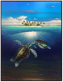 Sea Turtle Island - Wyland Gallery Sarasota