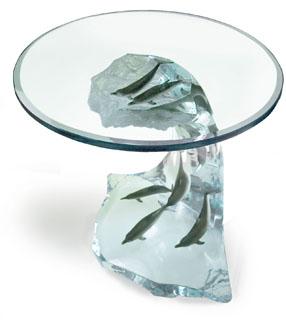 Wyland Dolphin Wave Table - Wyland Gallery Sarasota