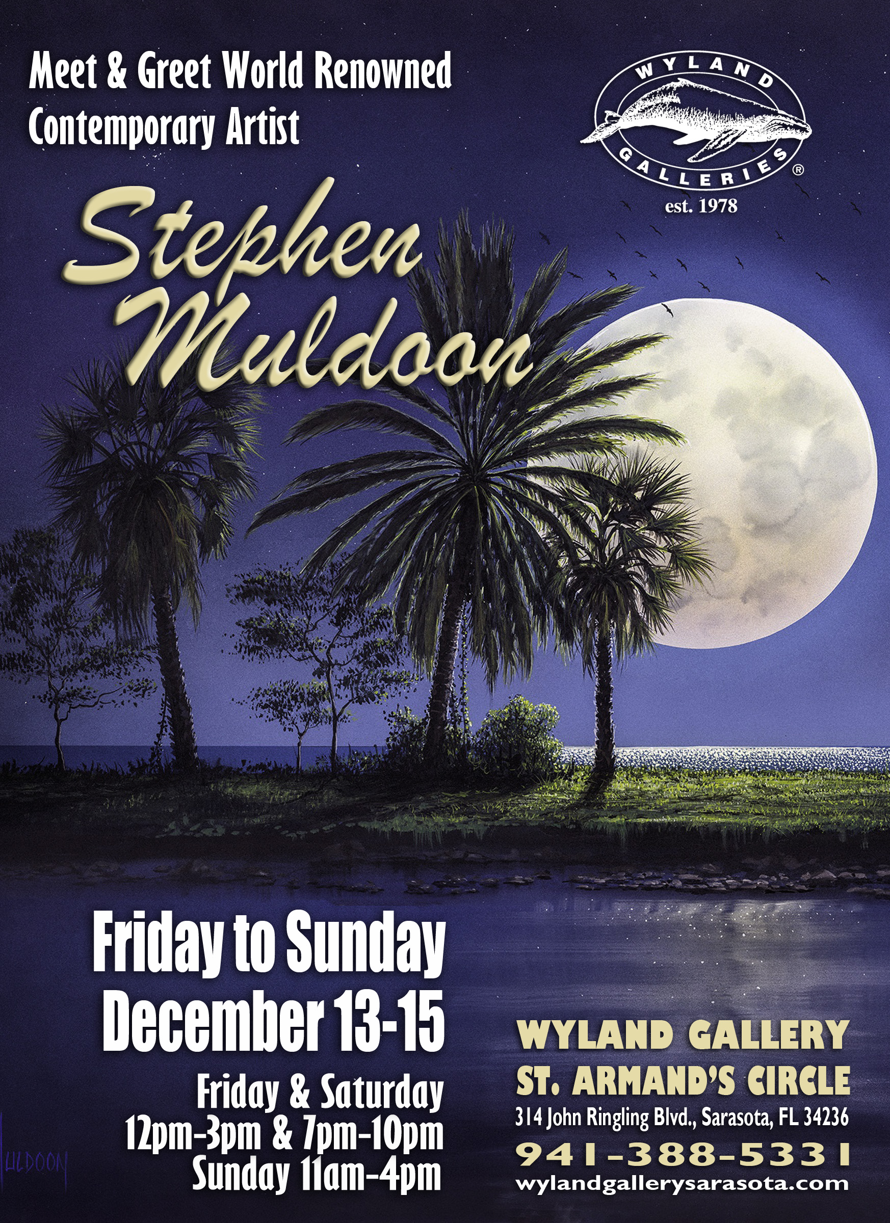 Stephen Muldoon Art Show at Wyland Gallery on St. Armand's Circle