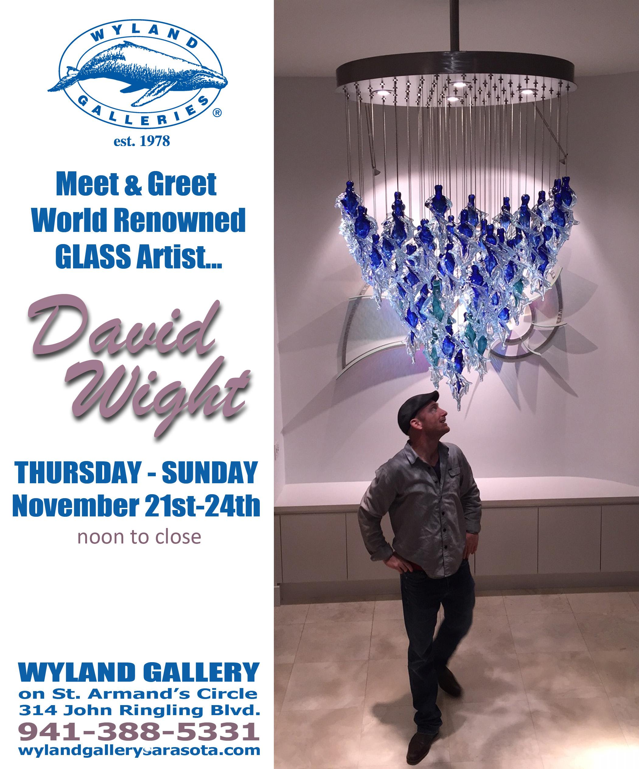 David Wight Glass Art Show at Wyland Gallery Sarasota
