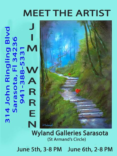 Jim Warren Show at Wyland Sarasota June 5th and 6th