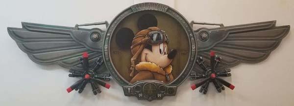 Aviator Mickey by Krystiano DaCosta Wyland Gallery Sarasota