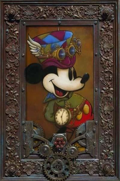 Mickey through the Gears by Krystiano DaCosta Wyland Gallery Sarasota