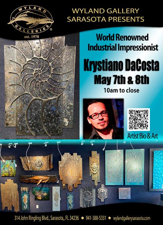 Krystiano DaCosta Artist Show at Wyland Gallery Lido Key May 7-8