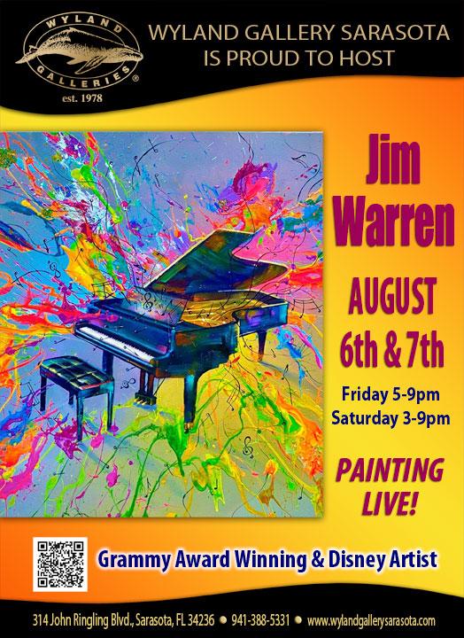 Jim Warren Artist Show at Wyland Gallery Sarasota August 6-7